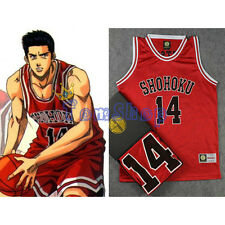 Anime SLAM DUNK Cosplay Costume Shohoku 10 Sakuragi Green Basketball Jersey Tops