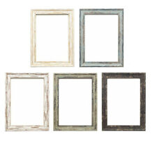 Retro Industrial Vintage Distressed Frame Wood Effect Picture Photo Poster Frame