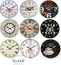 Shabby Chic Large Vintage Rustic Retro French Wall Clocks Home & Kitchen Range
