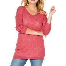 Pullover - Gr. 44/46 48/50 52/54 - rot - leicht transparent - Sheego - Pulli