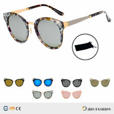 Vintage Women's Mirror Designer Flat Lens Sunglasses RETRO Eye Glasses Eyewear