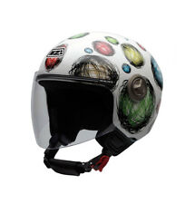 Nzi - Casco jet Helix IV Multi Scribble blanco, multicolor