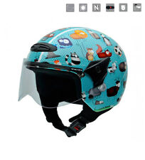 Nzi - Casco jet junior Helix II JR Animals  multicolor