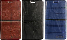 Premium Quality Leather Wallet Flip Cover Case for Nokia 3 -Black/Brown/Blue