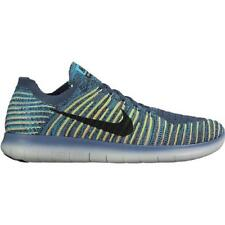 Mens NIKE FREE RN FLYKNIT Blue Running Trainers 831069 407