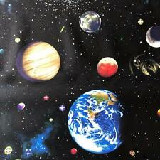 100% Cotton Solar System Fabric Material (Nutex) sold by the metre