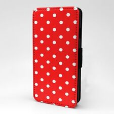 Polka Dot estampado Funda libro para Apple iPod - t1063