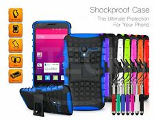 For LG K7 (X210) - Kickstand Shockproof Case Dual Layer & Pen