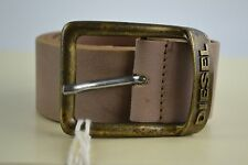 Diesel BANNYS CINTURA BELT Brown Leather Brown Leather BELT Used Look Size 80