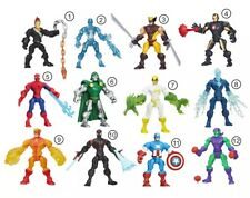 figurine marvel super hero mashers spiderman iron man wolverine Pyro Electro ...
