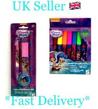 Nickelodeon Shimmer Shine Stationery Set & 8 Colour Changing Pen Sambro SL