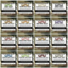 Home Brew Yeast.White&Red Wine,Cider,Mead,High Alc,Ginger etc.1,3,5,10Pk & Mix