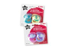Tommee Tippee Cherry Natural Latex 2 Pack Baby Soother Dummy 6/18 Mths BPA Free