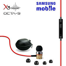 X3 SOUND OCTA-9  IN-EAR EARPHONE WITH MIC & REMOTE SAMSUNG NOTE , GRAND