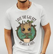 'SAVE THE GALAXY PLANT A TREE' GUARDIANS OF THE GALAXY - BABY GROOT - T - SHIRT