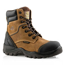 Buckler BSH008WPNM High Leg Waterproof Safety Work Boots Brown (Sizes 6-13) Mens