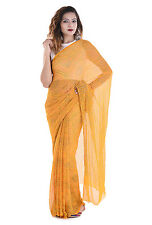 Attire  Women`s Pure Crepe Bhandej Printed Saree With Blouse BHSAR04
