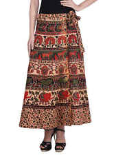 Attire Fashions Jaipuri Animal Printed Ladies Indian Wrap Around Long Skirt Wap