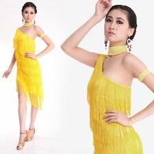 Latin Dress Salsa Rumba Ballroom Competition Dance Tassel Dress Fancy Costume