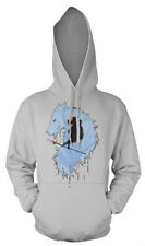 NEW UNISEX HOODIE PRINCESS MONONOKE - AVAILABLE IN BLACK AND GREY - LONG SLEEVE