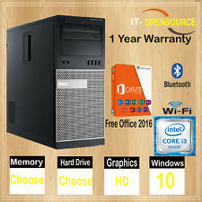 Dell Core i5 TOwer PC Dell OptiPlex Desktop Computer HDD Windows 10 Wifi