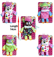 """5.5"""" Little Worry Monster Clip-On Plush Soft Toy - Various Colours"""