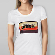 NEW WOMEN'S 'AWESOME MIX VOL 2' GUARDIANS OF THE GALAXY TEE - CREW NECK T-SHIRT