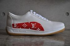 "Louis Vuitton x Supreme Sport Sneaker ""White Monogram"" - White/Red/Gum"