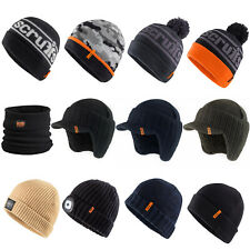 Scruffs Hats Winter Collection - Thermal Bobble Peaked Beanie Black Grey Navy