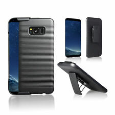For Samsung Galaxy S8 / Galaxy S8 Plus Slim Shell Case Cover Belt Clip Holster