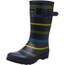 Joules Printed Welly Stripe Multi Gomma Gioventù Wellingtons Stivali