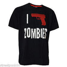 Darkside Clothing I Shoot Zombies Camiseta Horror EVIL Pistola Todas Las Tallas