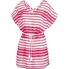 Fat Face - Women's - Woven Stripe Kaftan - Pink - 100% Cotton - BNWT