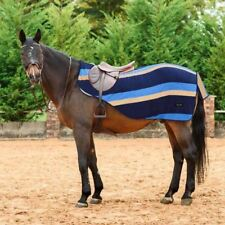 Everest Striped Fleece Hack Quarter Kidney Horse Pony Ride On Exercise Rug Sheet