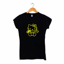 Evil Hello Kitty - T-Shirt da Donna S-XXL Scuro Zombie Gotico