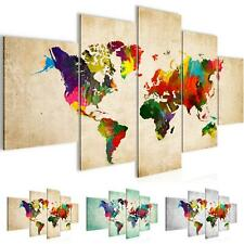Wandbilder xxl bilder weltkarte world map vlies leinwand for Weltkarte leinwand ikea