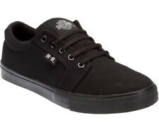 Harley Davidson Ellis Black  Mens Canvas Trainers Relax Lace Up Shoes