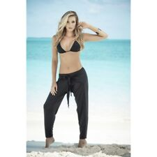 Beach pants ties front black 1864 Sexy mode plage