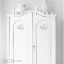 CROWN Estarcido para las paredes Muebles manualidades Shabby Chic Plantillas la