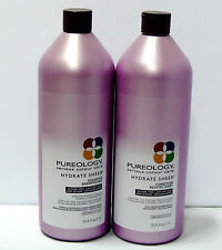 Pureology Hydrate Sheer Shampoo Conditioner 33.8 oz Liter Duo Set with Pumps