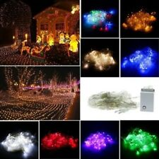 GUIRNALDA LUCES LED Malla de red cortina Navidad Boda Exterior enchufe UE