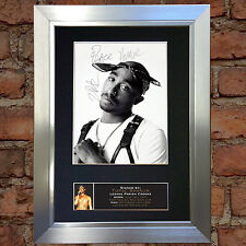 TUPAC SHAKUR Signed Autograph Mounted Photo Reproduction A4 Print 664