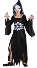 AFTER DARK GIRLS HALLOWEEN OUTFIT FANCY DRESS SCARY PARTY COSTUME AGES 4-14 YEAR