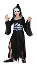 AFTER DARK GIRLS HALLOWEEN OUTFIT FANCY DRESS SCARY PARTY HORROR COSTUME 4-14YRS