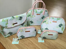 Ted Baker Beauty Wash bag Make Up Green Floral large small New