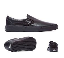 Mens Vans Classic Slip On Perforated Black Trainers RRP £51.99 (.PF2)