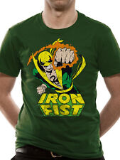 OFFICIAL MARVEL COMICS - IRON FIST FOCUSED CHI GREEN T-SHIRT