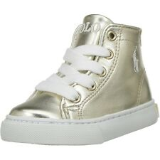 Polo Ralph Lauren Slater Mid Gold Synthetic Junior Trainers
