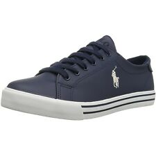 Polo Ralph Lauren Slater Navy/Cream Synthetic Youth School Shoes