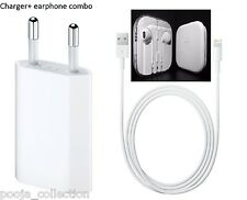 Genuine Charger for Apple iPhone 7,6,6S,5,5S,5C,+ 3.5mm jack earphone(combo)